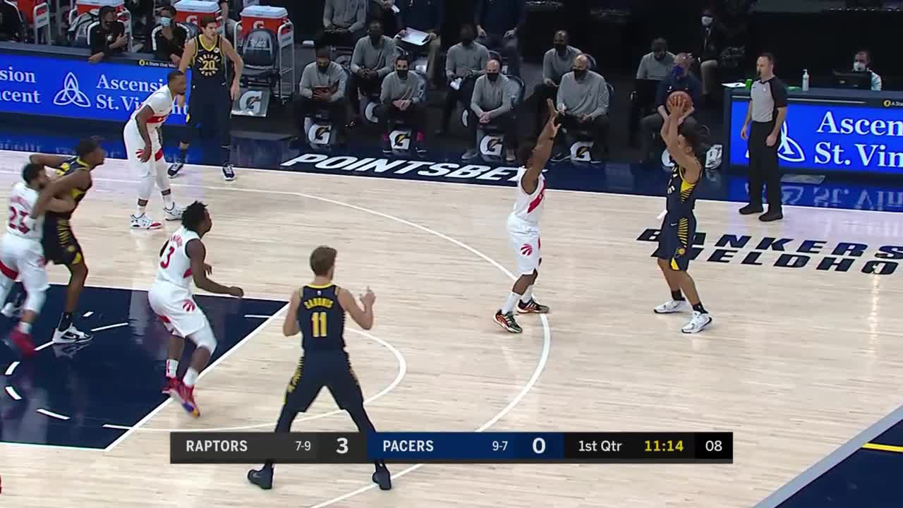 Myles Turner Posts 21 points & 10 rebounds vs. Toronto Raptors