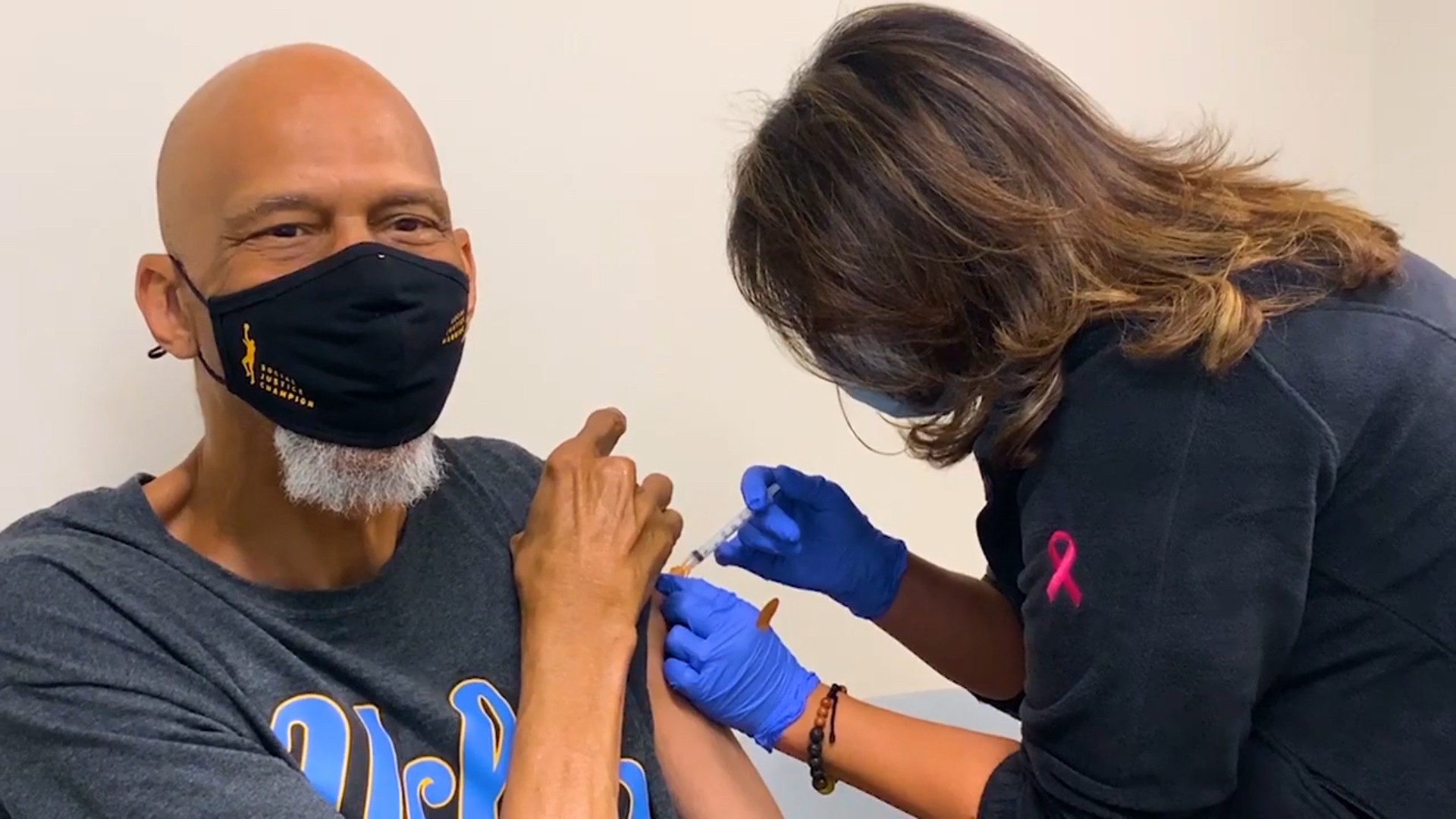Kareem Abdul-Jabbar urges public to get COVID-19 vaccine