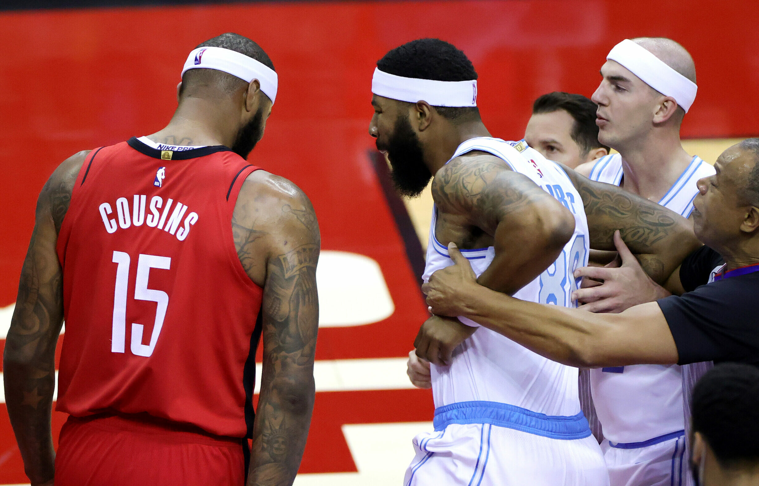 NBA fines Markieff Morris and DeMarcus Cousins for altercation