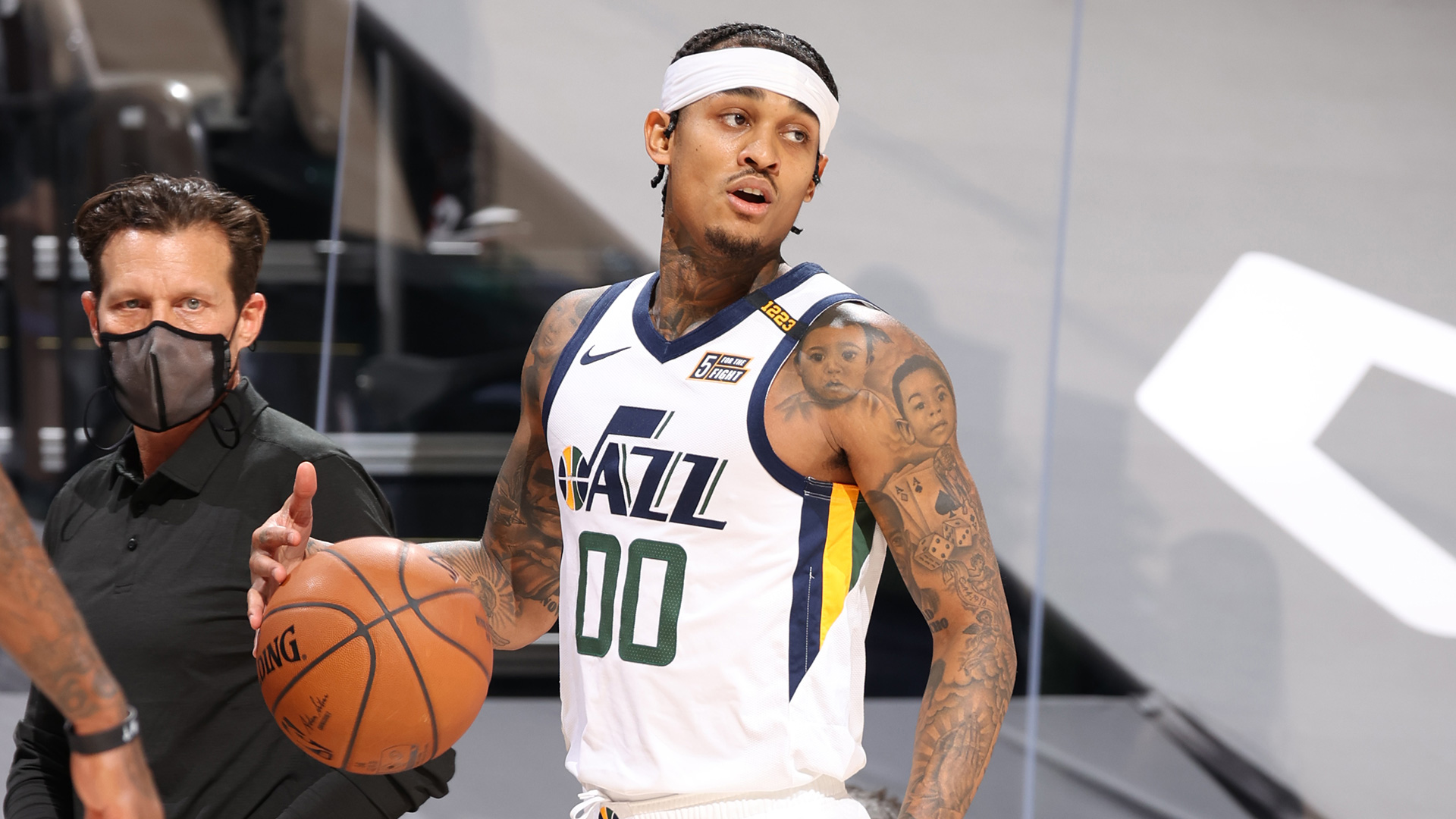 Jazz guard Jordan Clarkson fined $25,000 for making contact with official   NBA.com