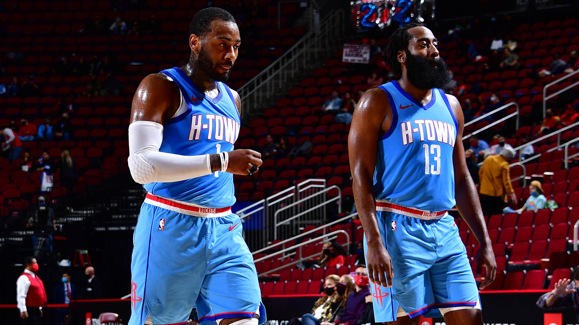 Debut of Wall-Harden pairing shows Rockets' potential
