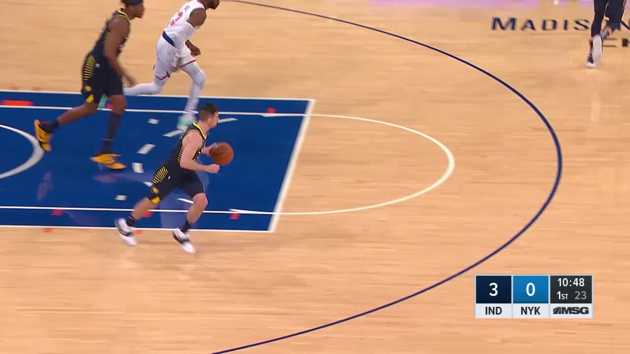 T.J. McConnell with 12 Assists vs. New York Knicks