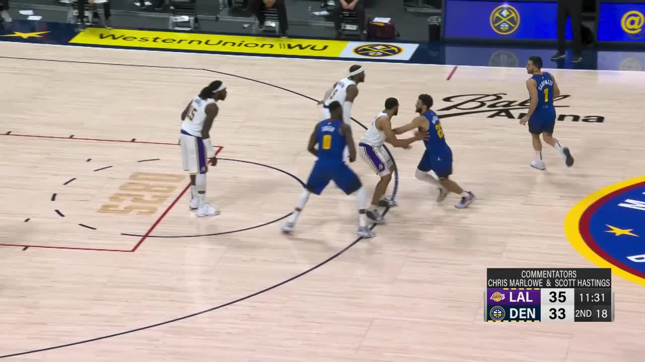 Denver Nuggets Highlights vs. Los Angeles Lakers