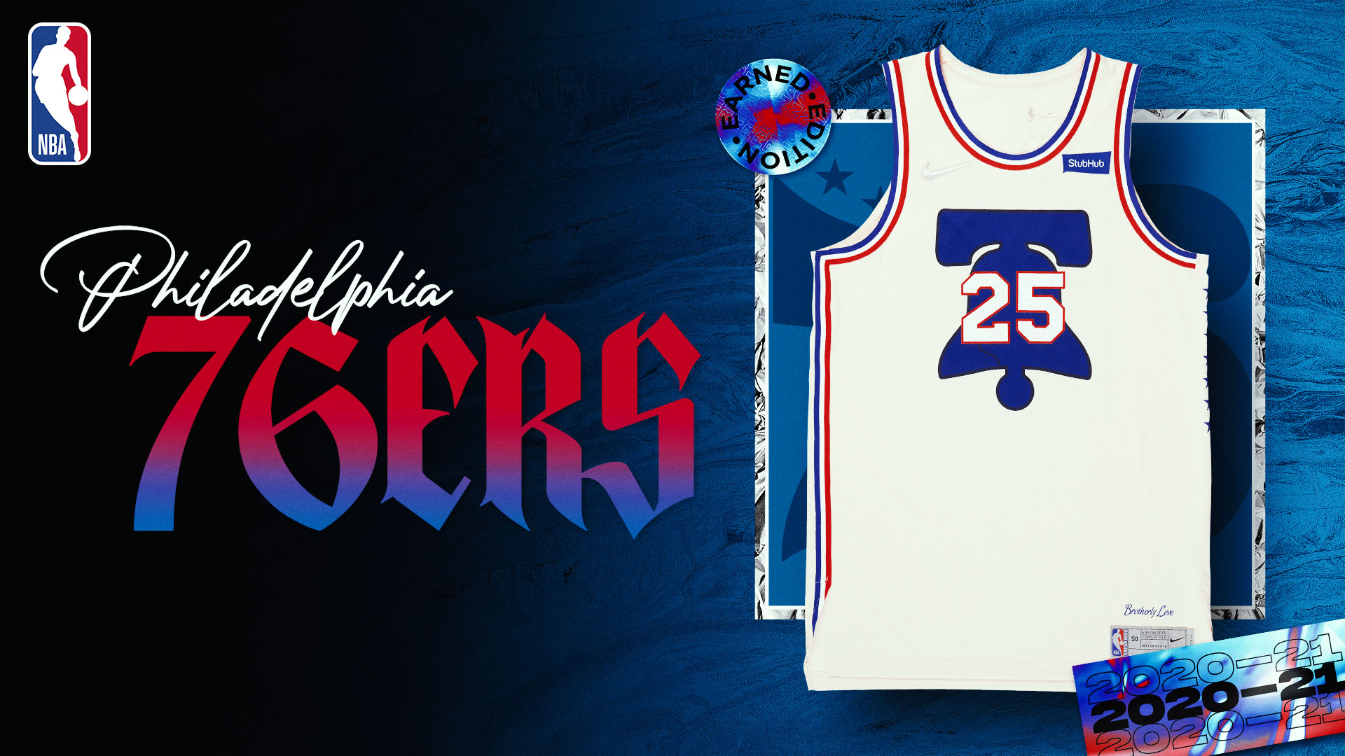 Nike Earned Edition Jersey: Philadelphia 76ers