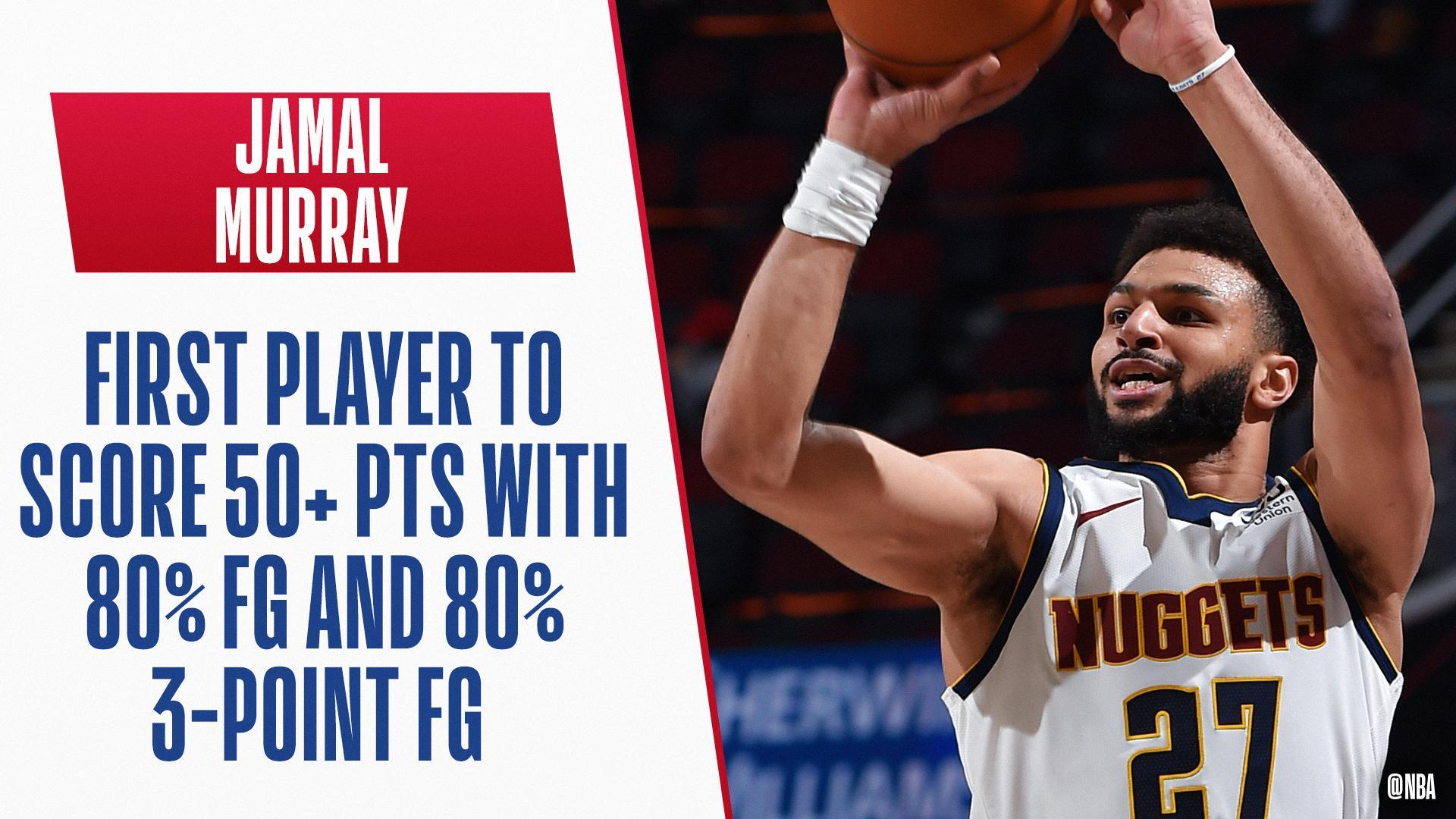 Jamal Murray records historic 50-point performance
