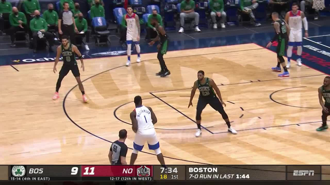 Pelicans Stat Leader Highlights: Zion Williamson scores 28 points vs. Boston Celtics