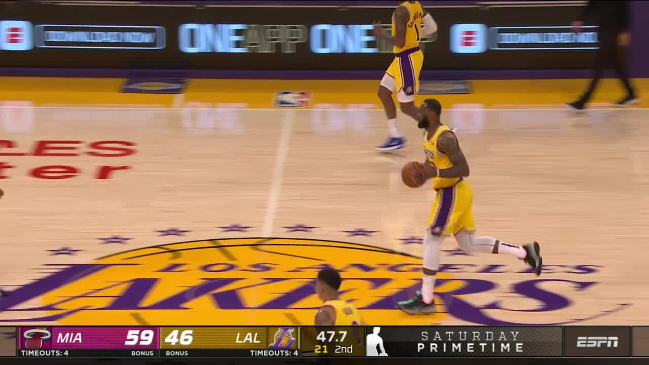 Los Angeles Lakers with a 11-0 Run vs. Miami Heat