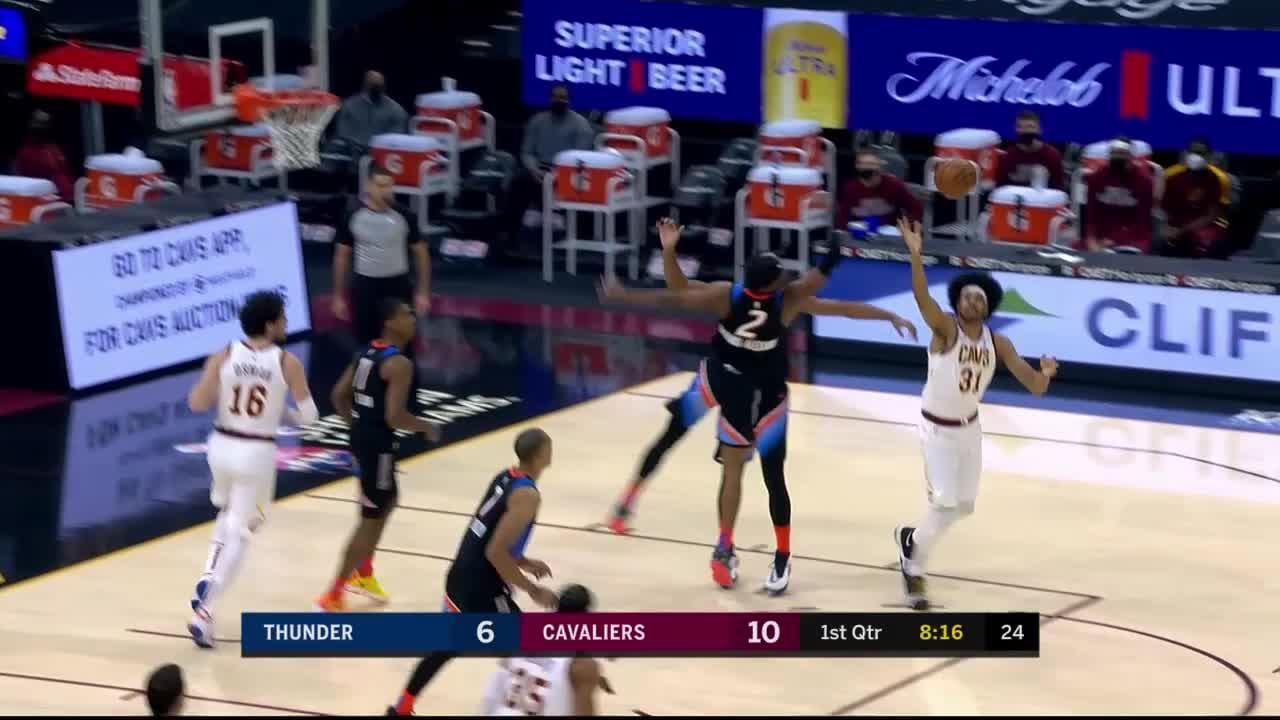 Jarrett Allen (26 points) Highlights vs. Oklahoma City Thunder