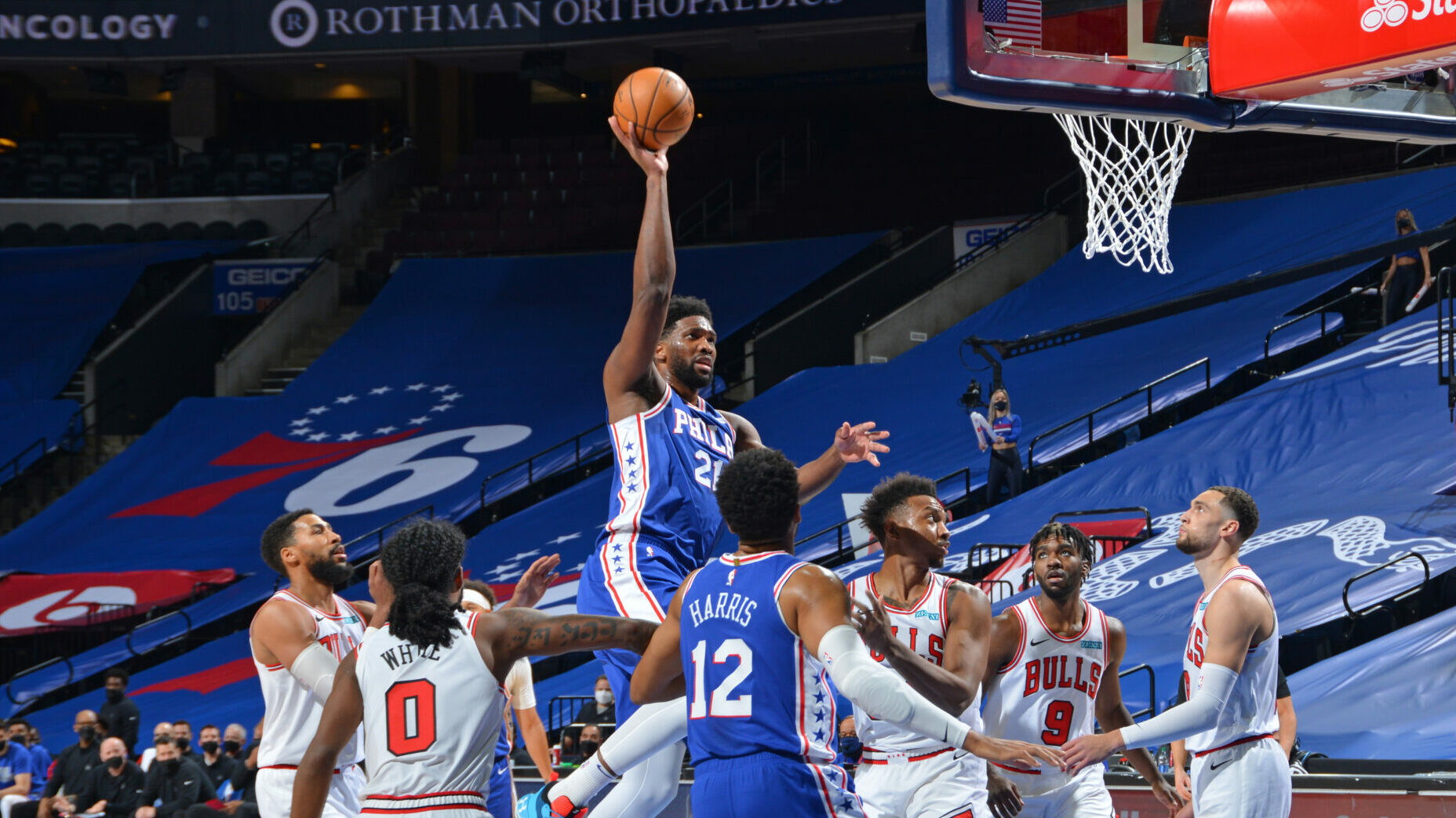 Joel Embiid's 50-point career-high leads historic night for centers