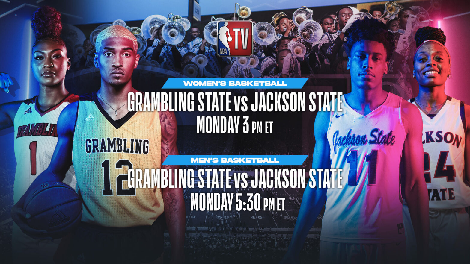 NBA TV to televise HBCUs Grambling State vs. Jackson State men's and women's basketball games