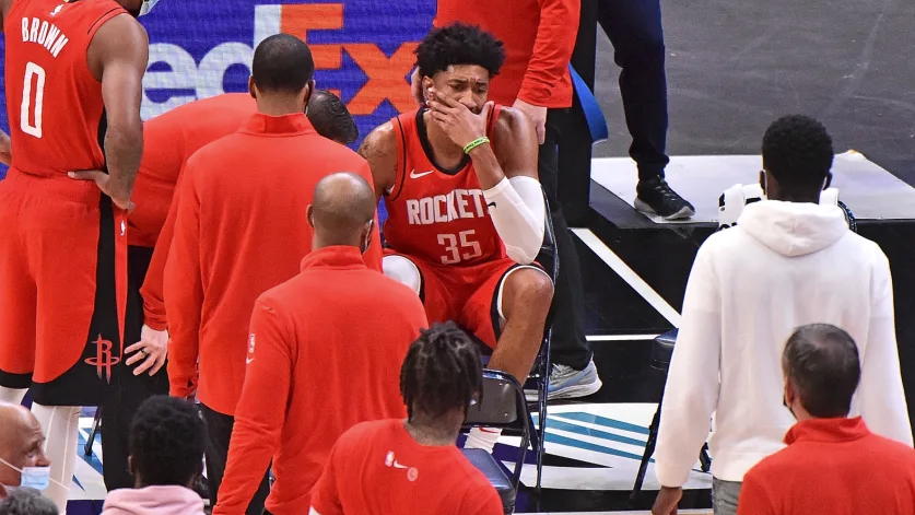 Rockets center Christian Wood week-to-week with right ankle sprain