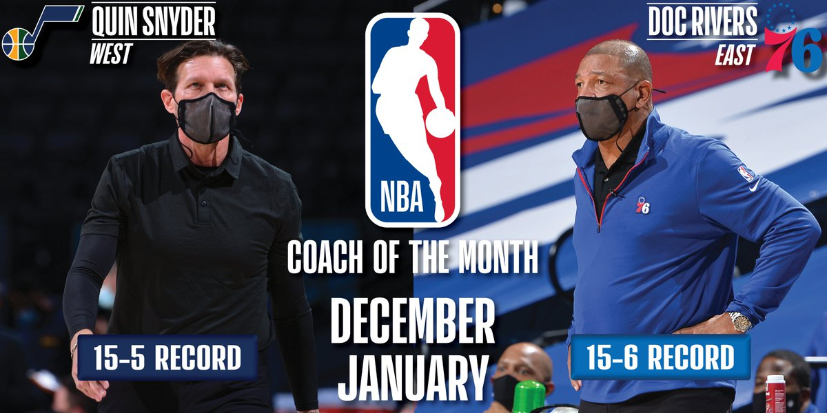 Quin Snyder, Doc Rivers named NBA Coaches of the Month