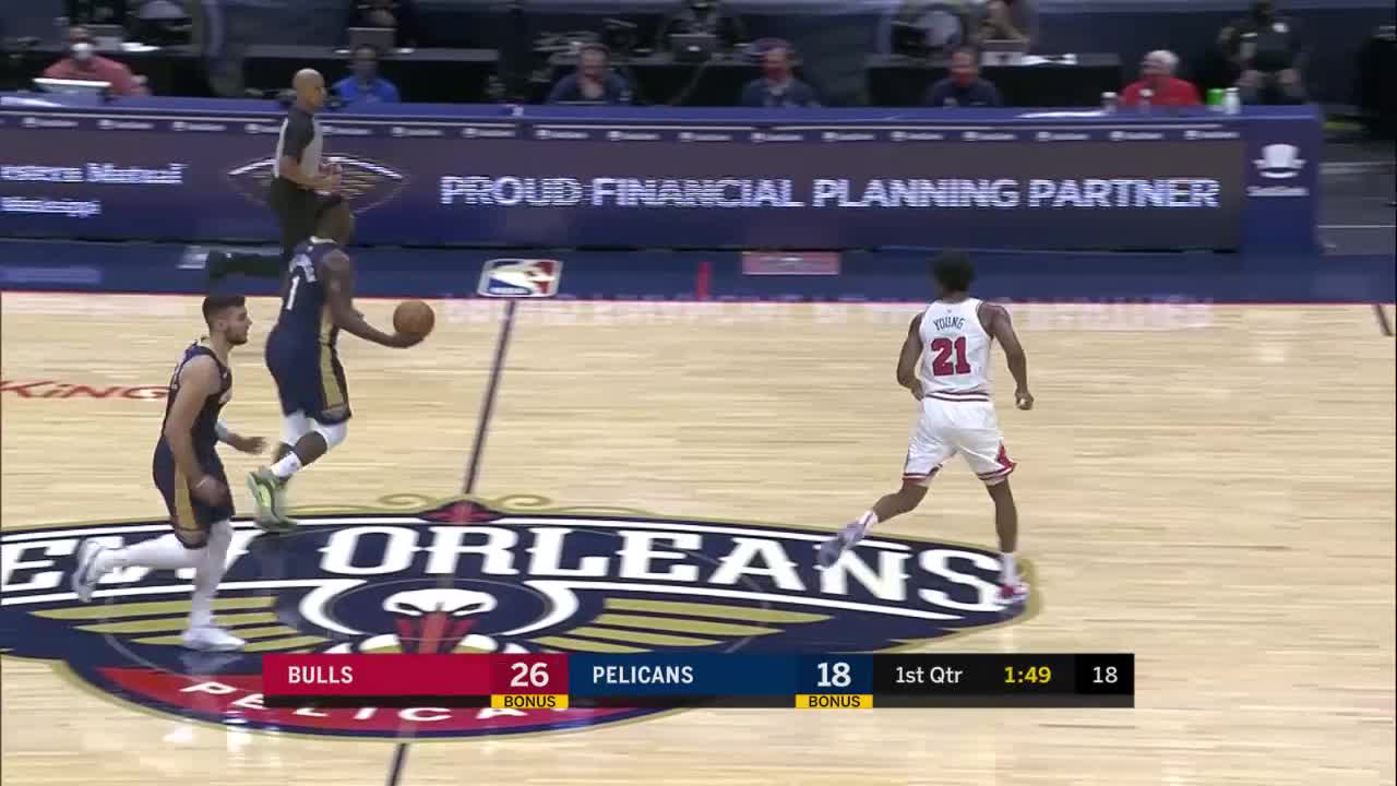 New Orleans Pelicans with an 11-0 Run vs. Chicago Bulls 3-3-21