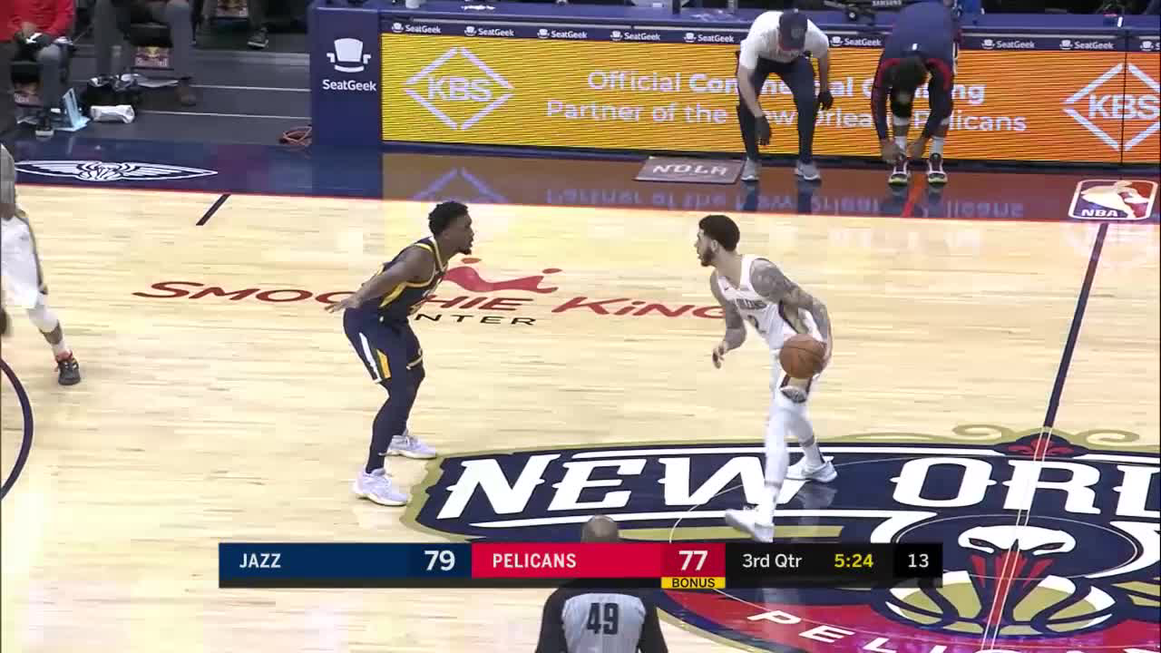New Orleans Pelicans with a 11-0 Run vs. Utah Jazz