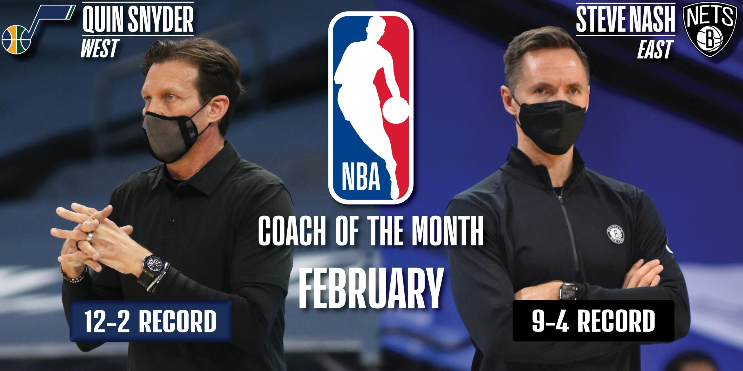 Quin Snyder, Steve Nash named NBA Coaches of the Month