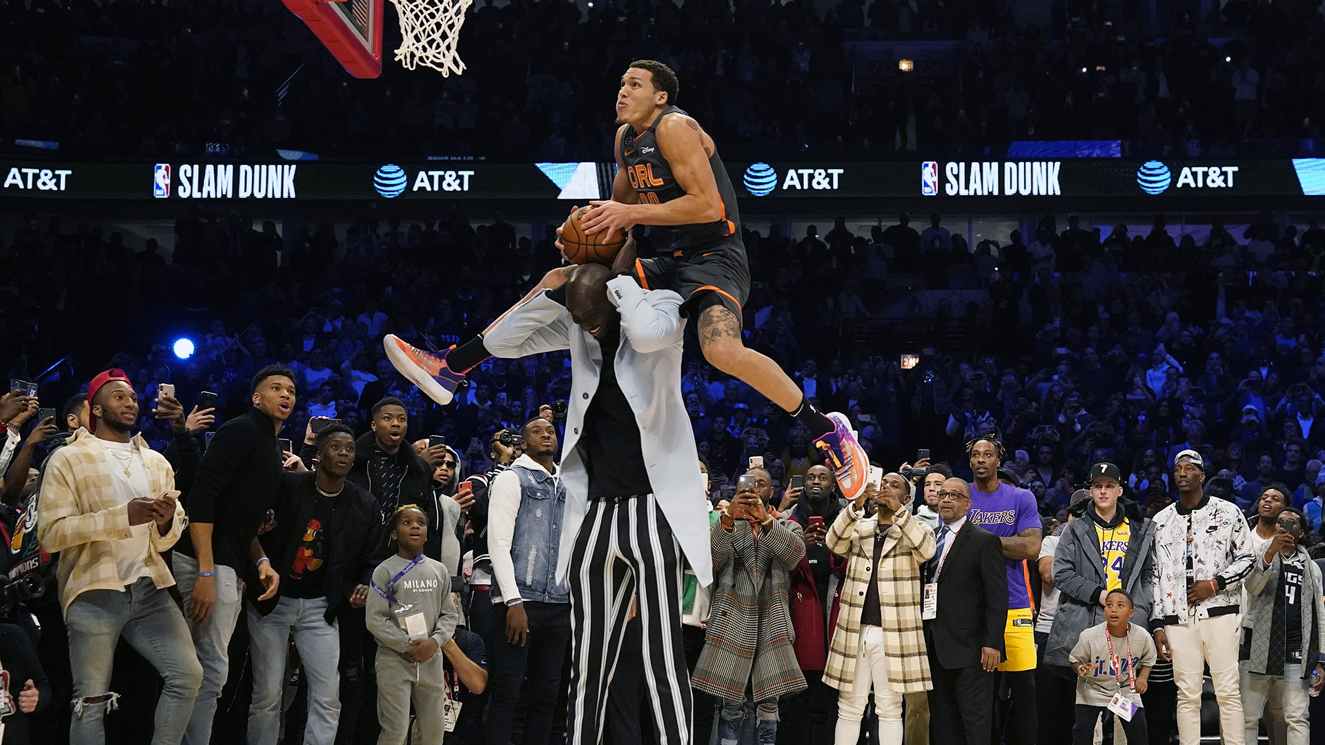 Best dunk contest jams jumping over people & props