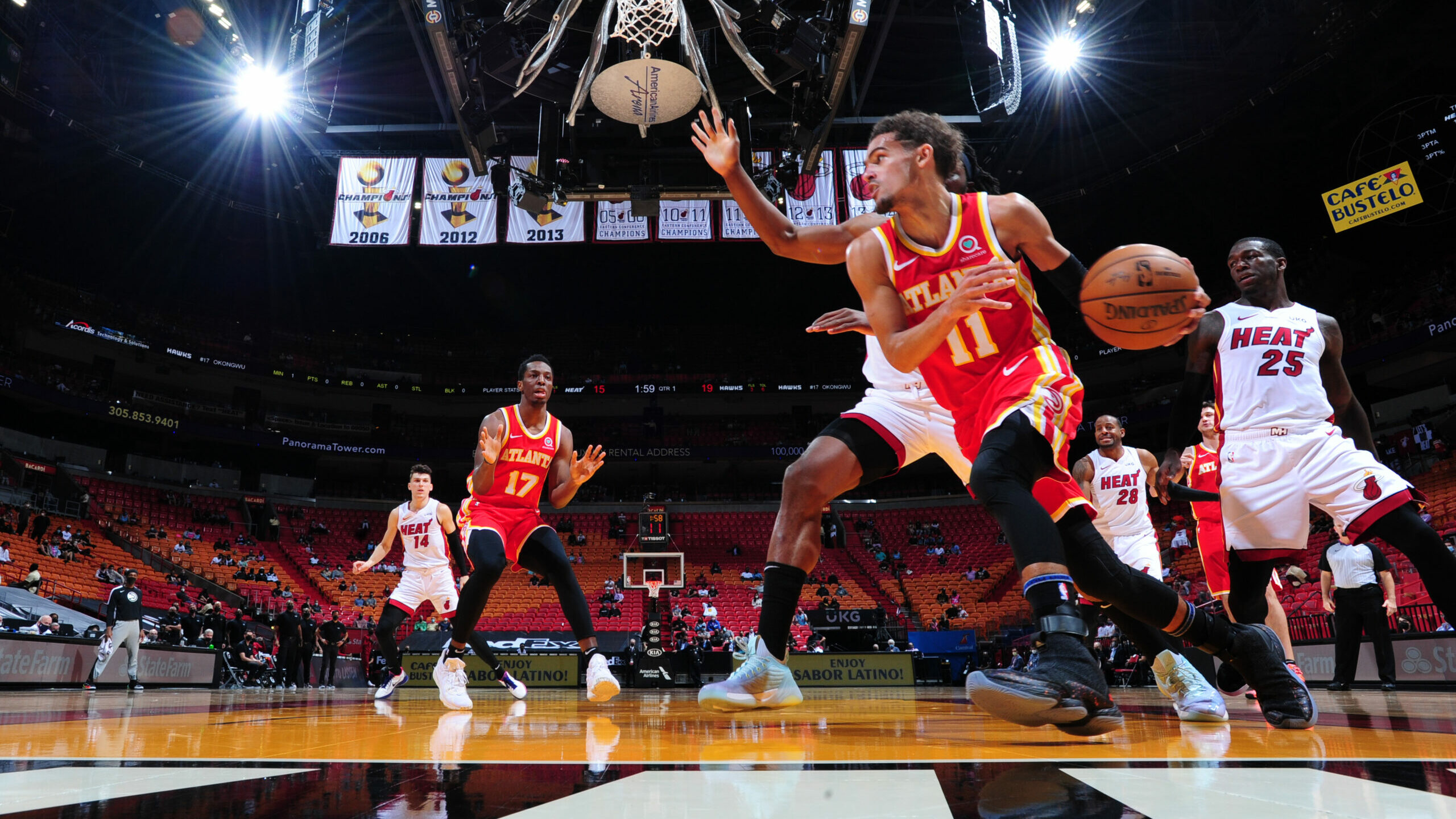 Hawks stop streaking Heat in 1st game under McMillan