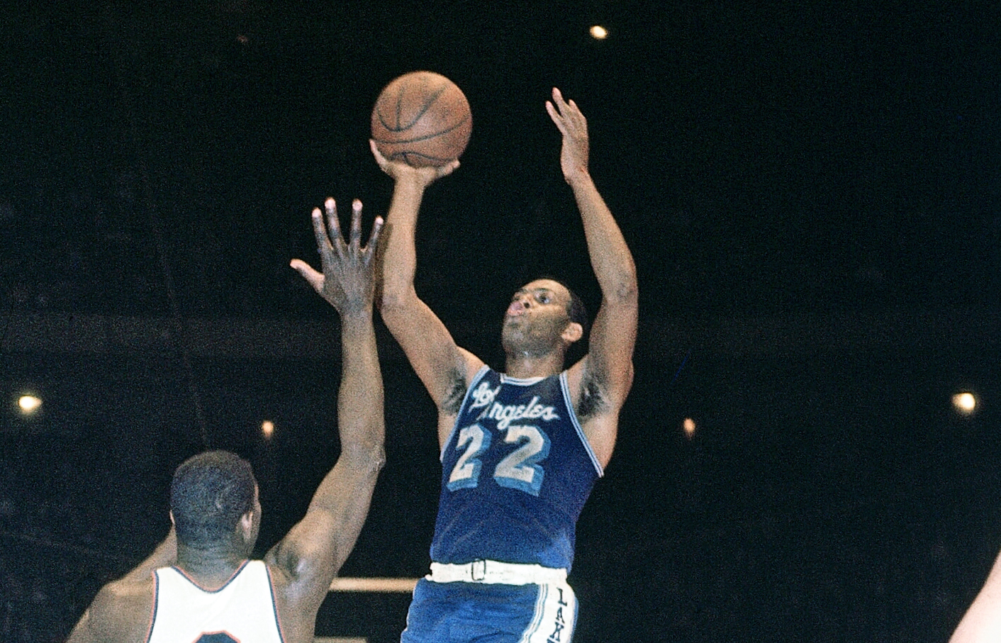 Elgin Baylor, first of the airborne, blazed vertical trail of basketball artistry