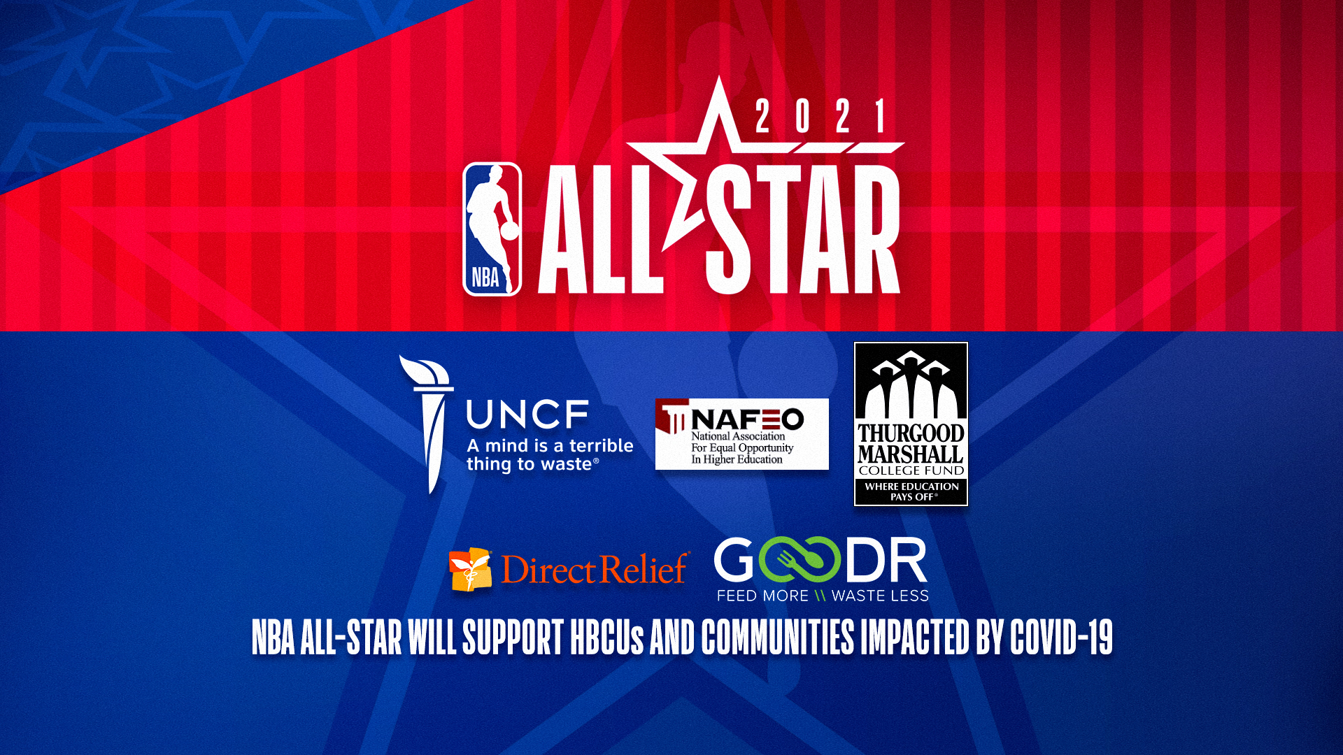 More than $3M to be donated in initial support as part of NBA All-Star 2021