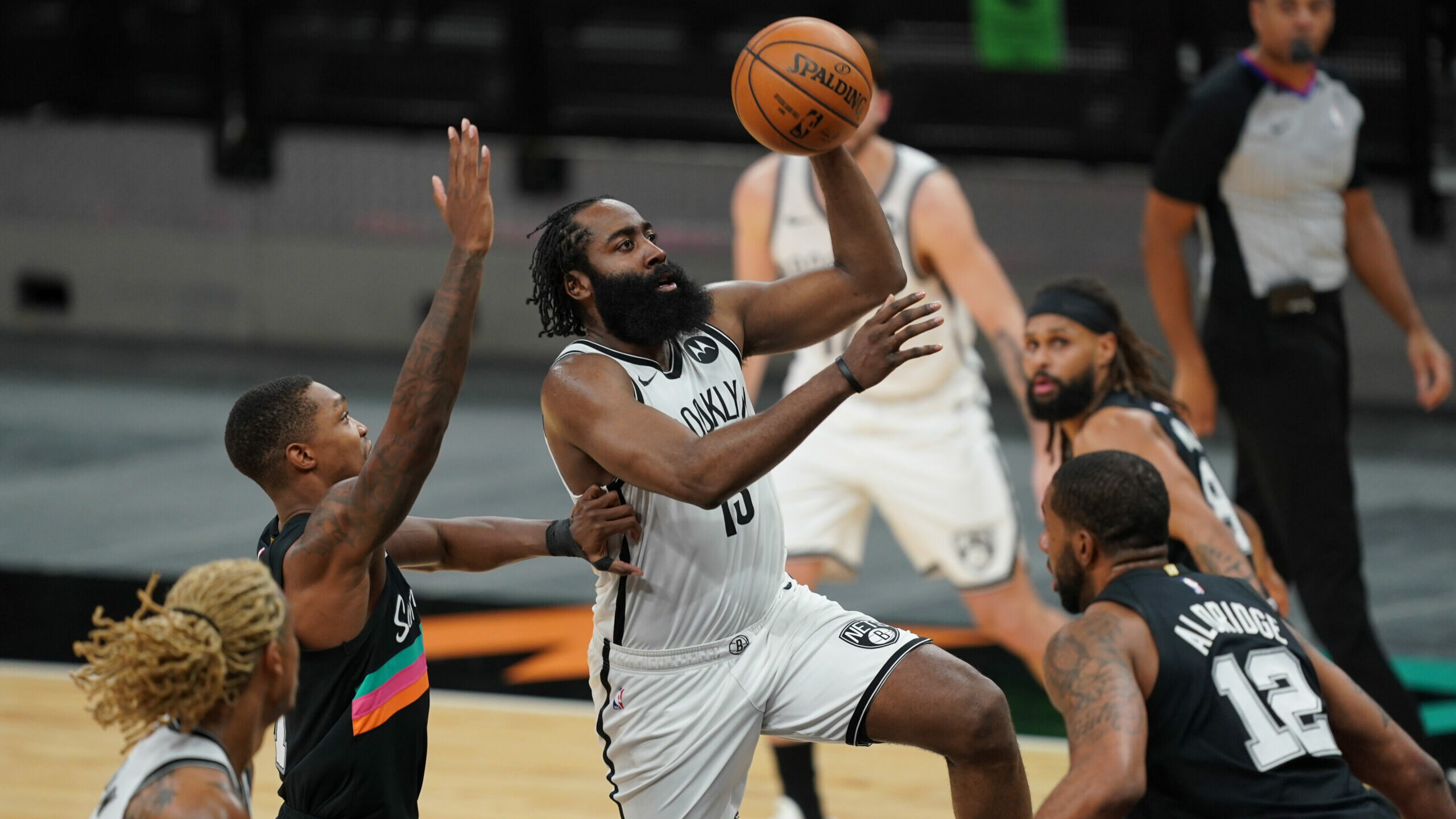 Harden helps Nets to 1st win in San Antonio since 2002
