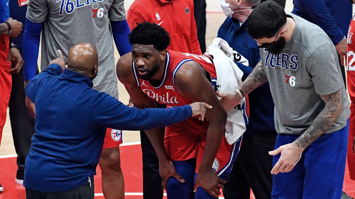 Sixers' Joel Embiid out at least 2 weeks with bone bruise in left knee