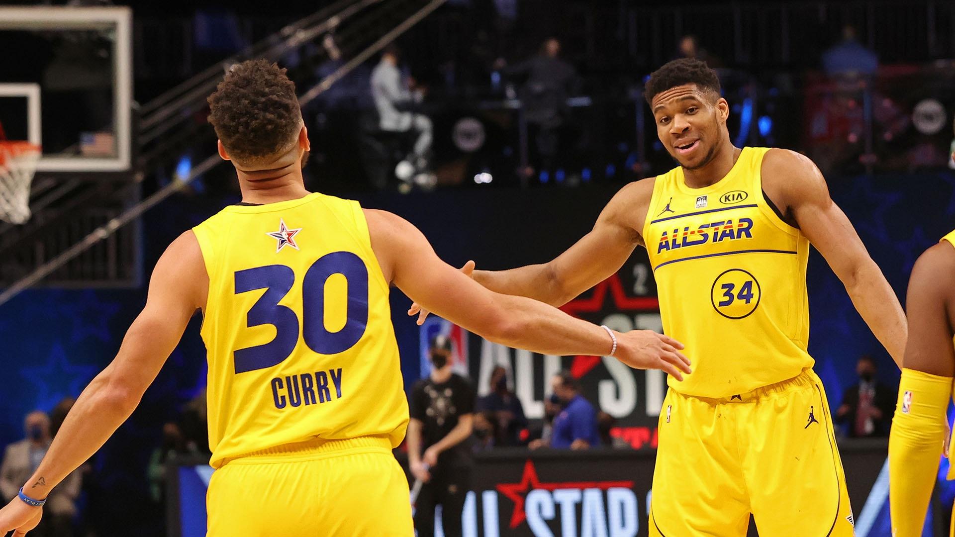Giannis, Curry lead Team LeBron past Team Durant