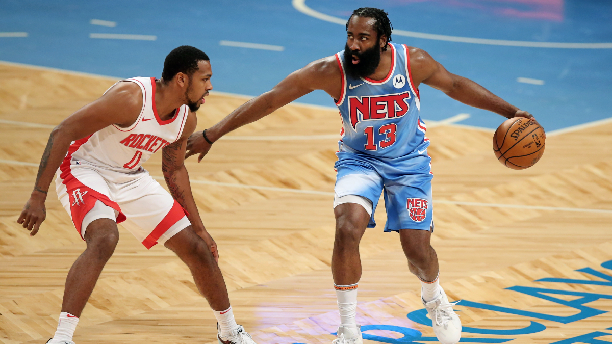 James Harden leaves Rockets-Nets game with hamstring tightness