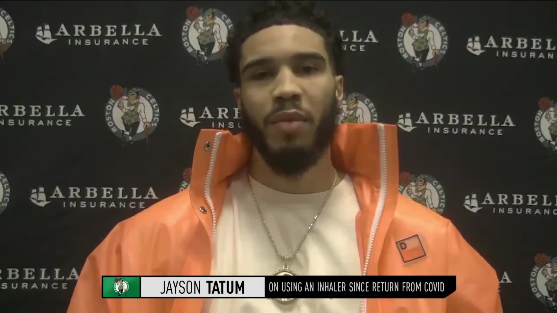 Jayson Tatum 'I take an inhaler before the game since I've tested positive'