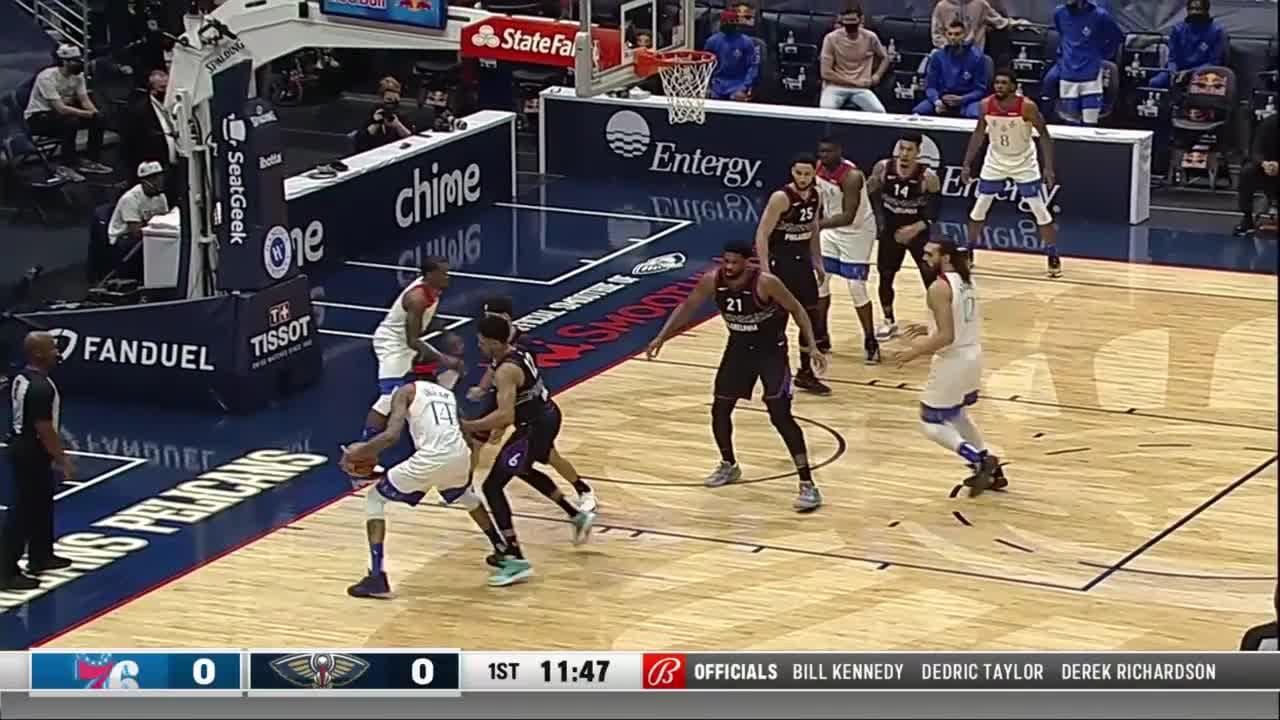 New Orleans Pelicans Highlights vs. Philadelphia 76ers 4-9-21