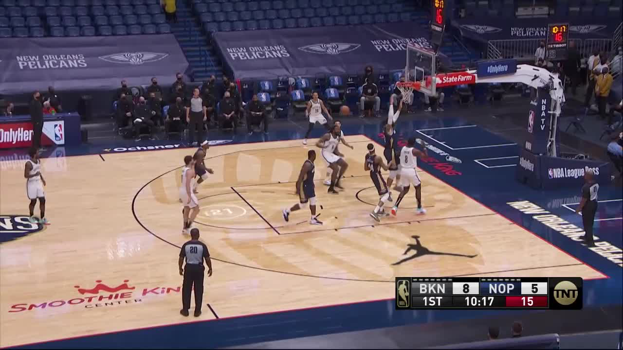 New Orleans Pelicans with a 11-0 Run vs. Brooklyn Nets 4-20-21