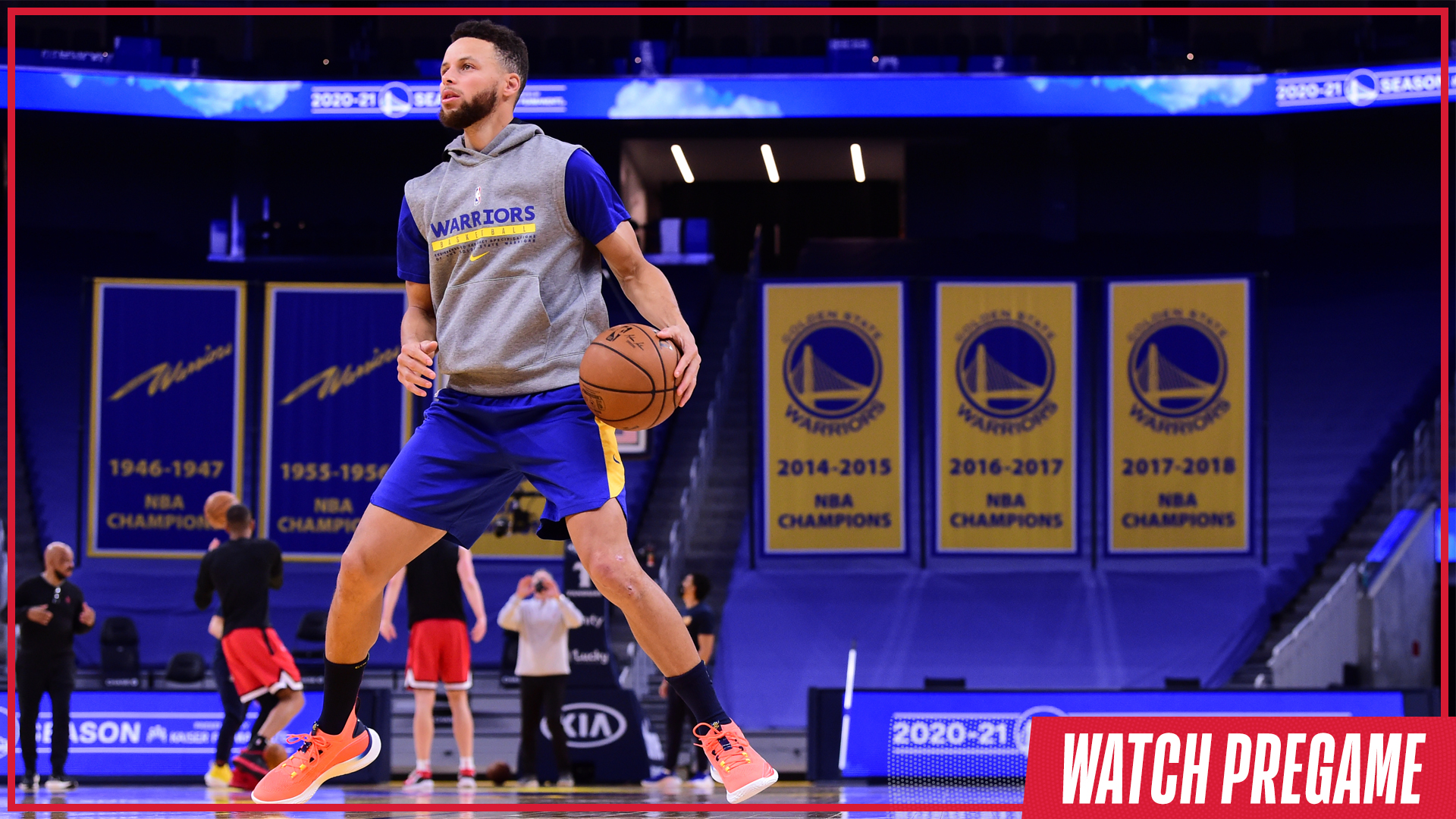 Watch Free: Warriors vs. Thunder Pregame