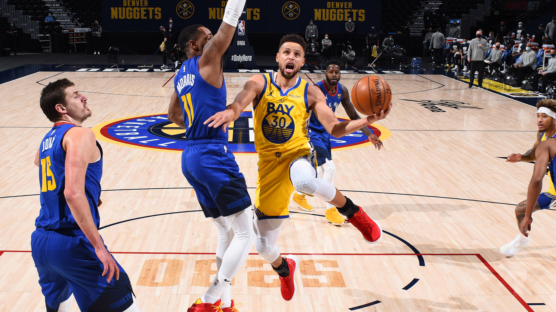 Curry on brink of Warriors' all-time scoring record