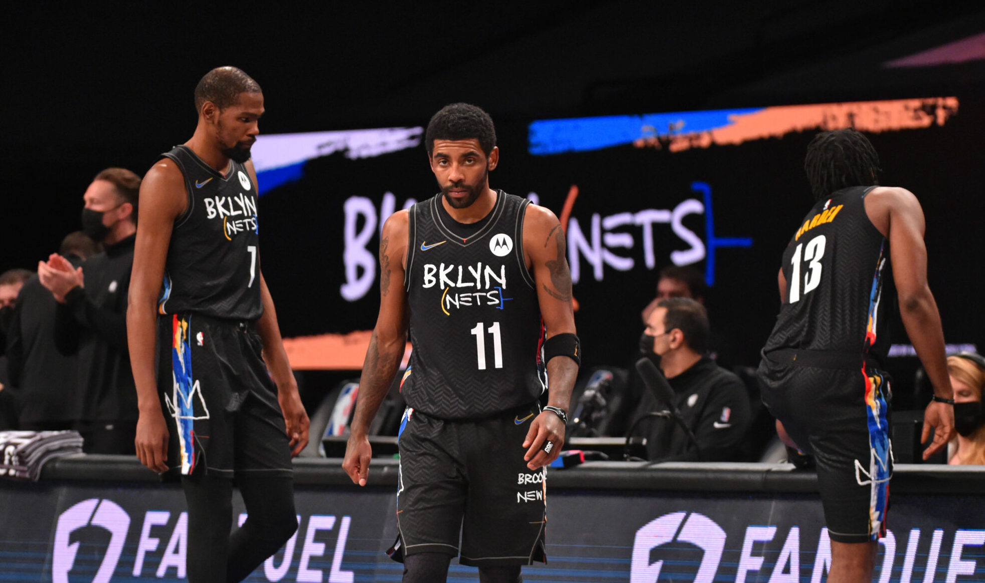 Nets' Big 3 finally in action together, ending 3-month absence