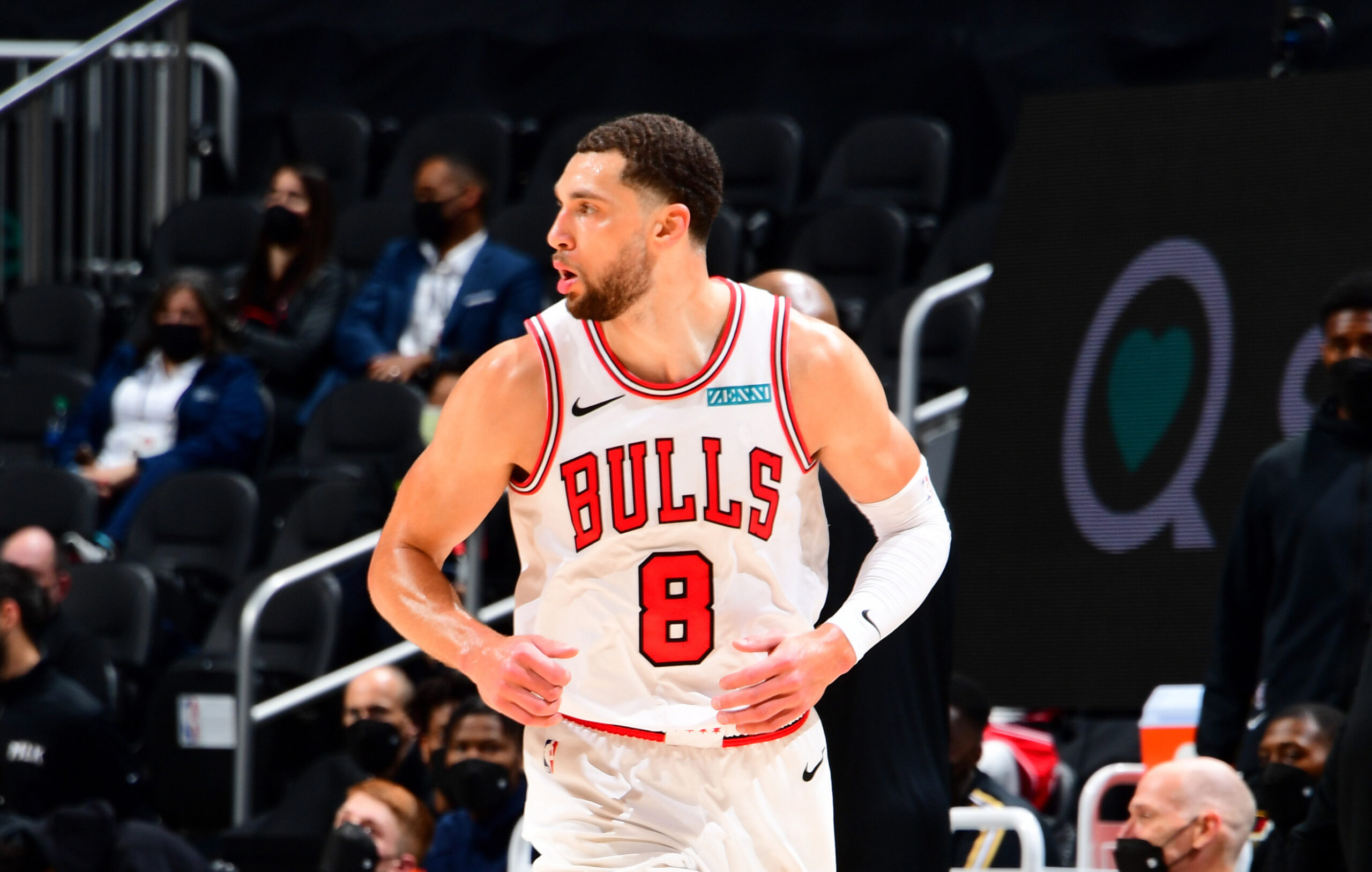 Zach LaVine scores 39 points in first half of Bulls-Hawks