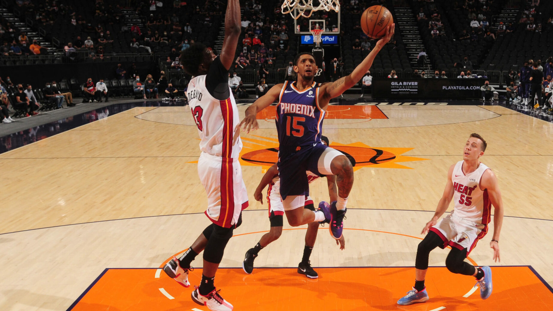 Bench sparks surging Suns past Heat in runaway win