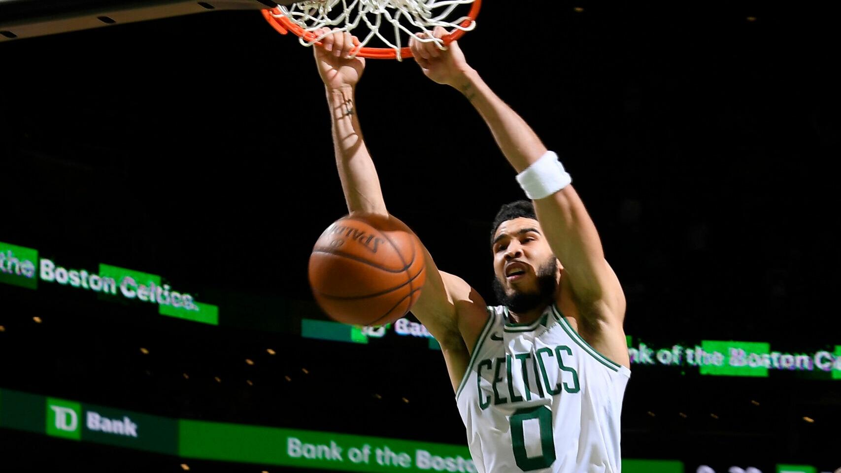 Jayson Tatum ties Celtics scoring record, leads comeback from 32 points down