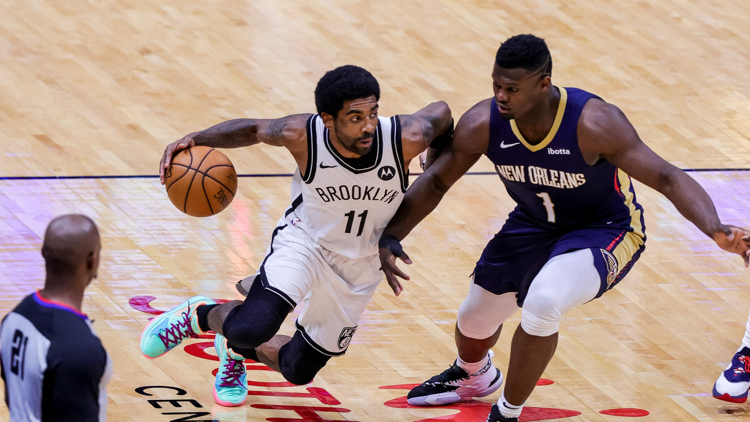 Irving leads Nets against Zion, Pelicans