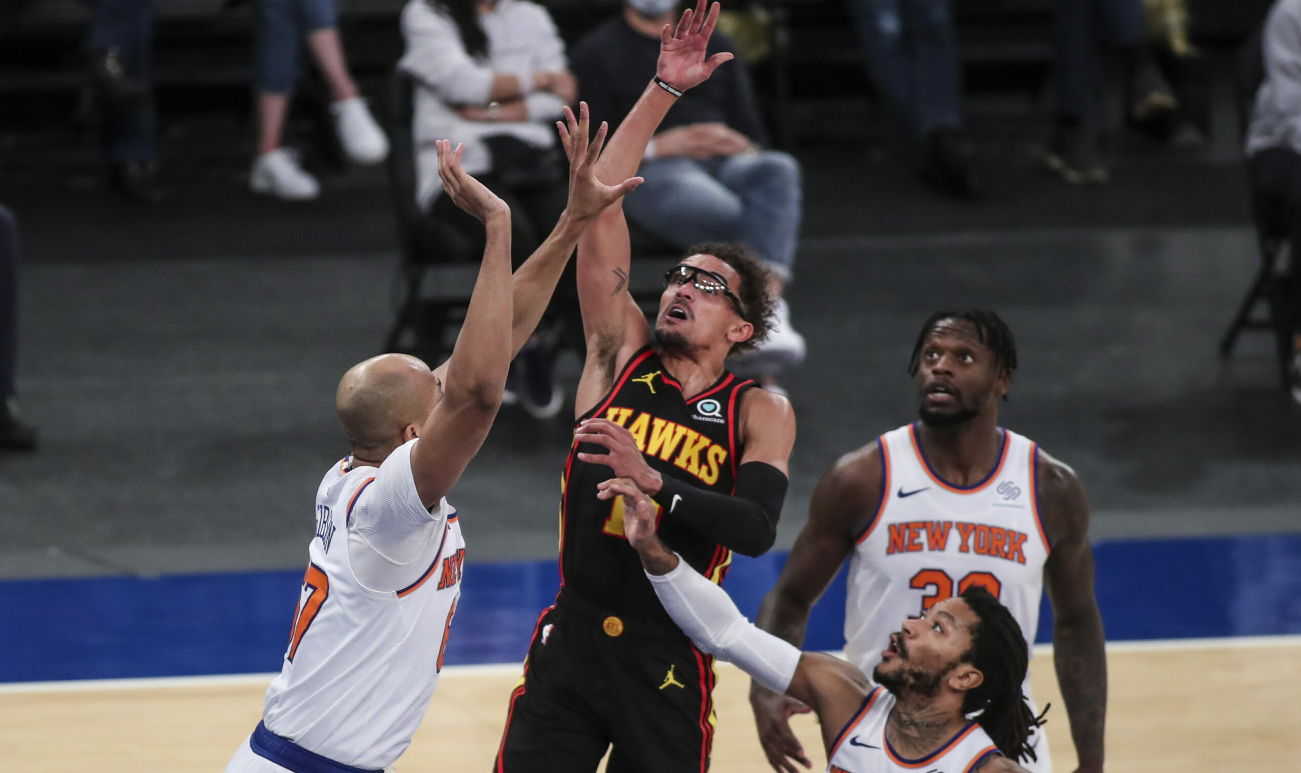 Hawks' Trae Young diagnosed with a lateral left ankle sprain