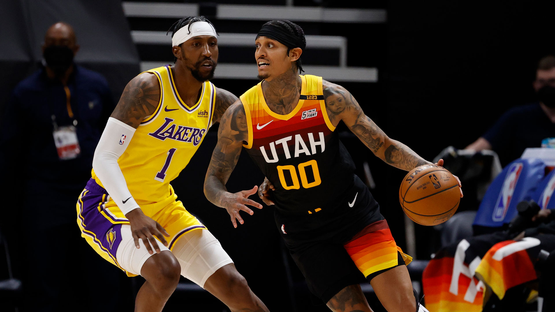 Banged-up Lakers, Jazz look to get on track in matinee