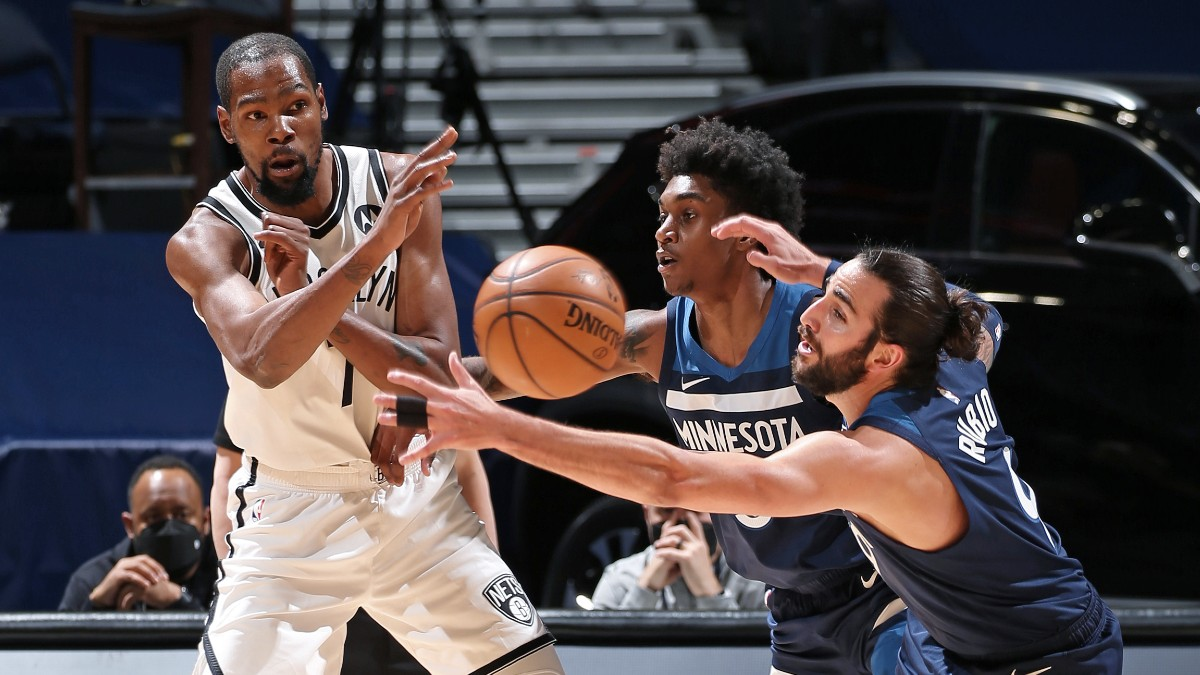 Durant ruthlessly efficient as Nets overwhelm Wolves