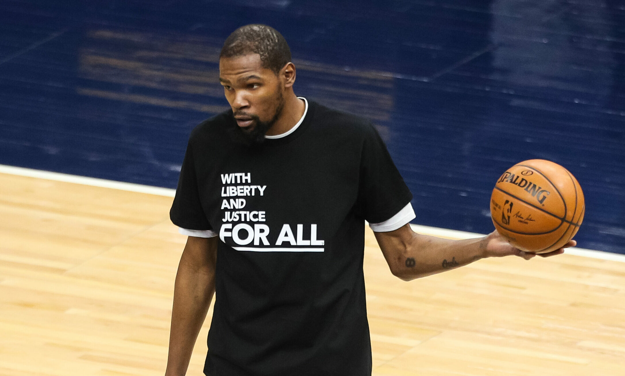Timberwolves honor Daunte Wright with warmup shirts, pregame moment of silence