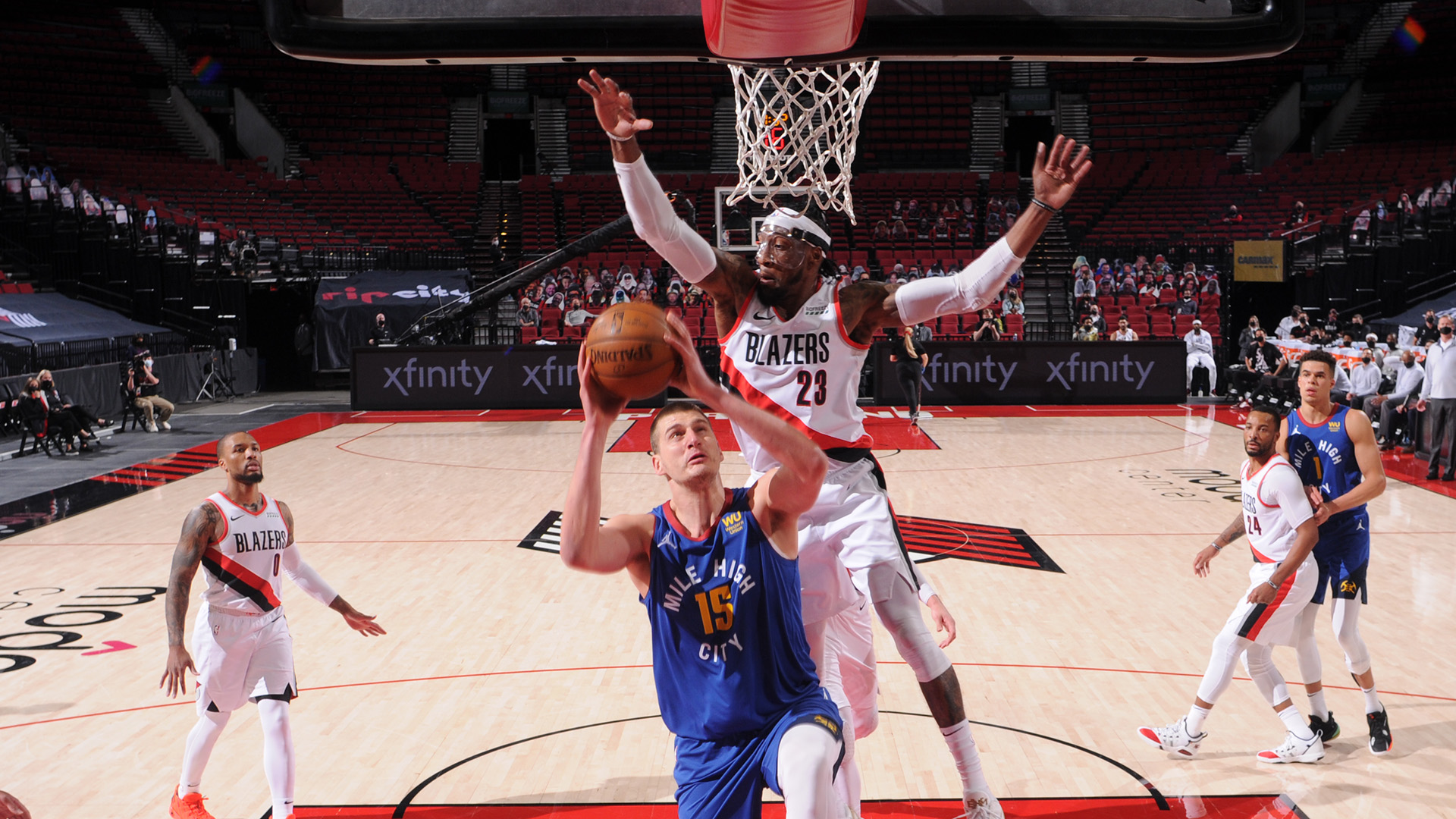 Nuggets evade Blazers in back-and-forth game