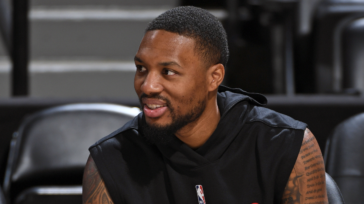 Damian Lillard sits out Blazers-Spurs game with strained hamstring