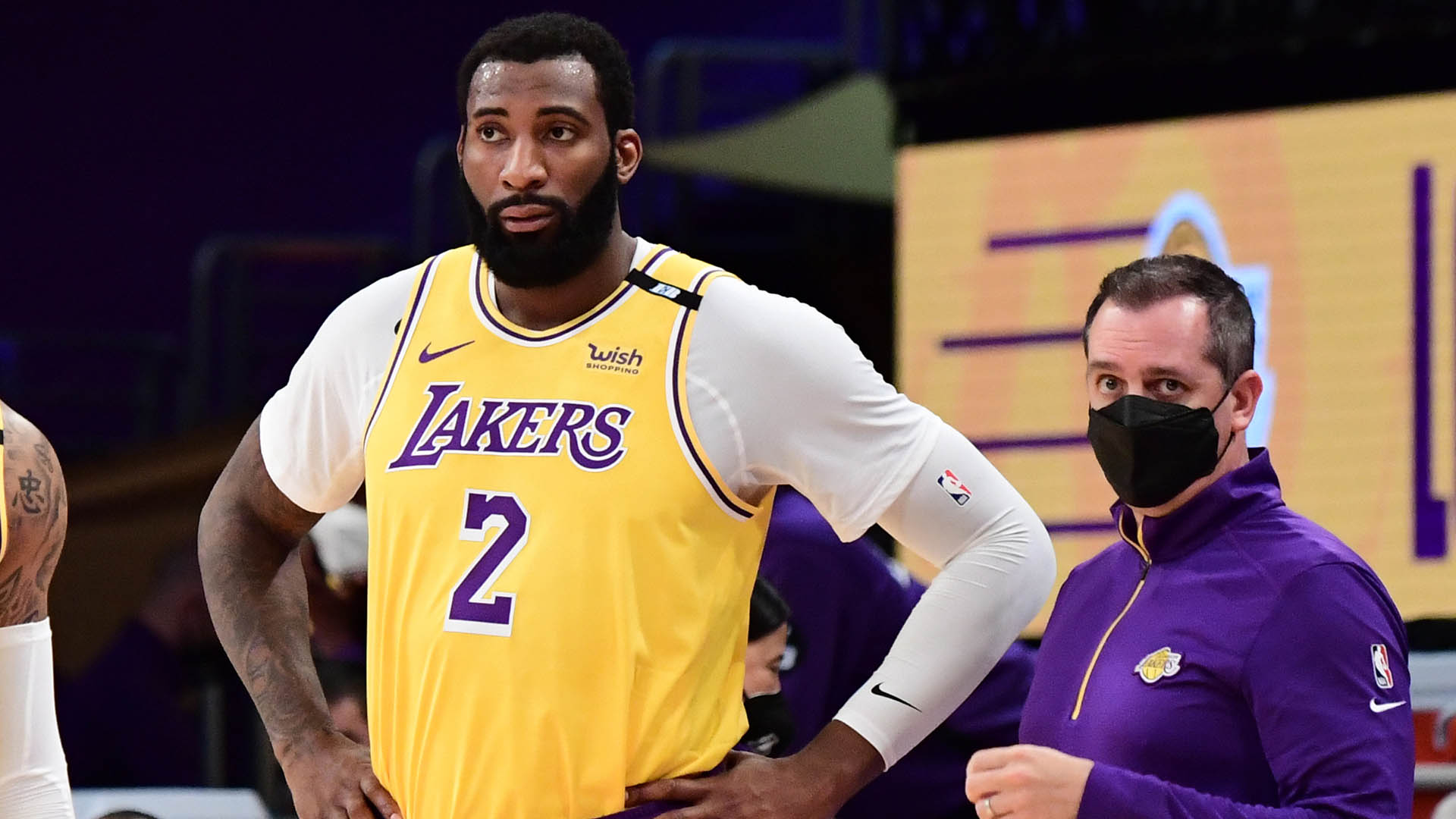 Lakers center Andre Drummond to play vs. Heat