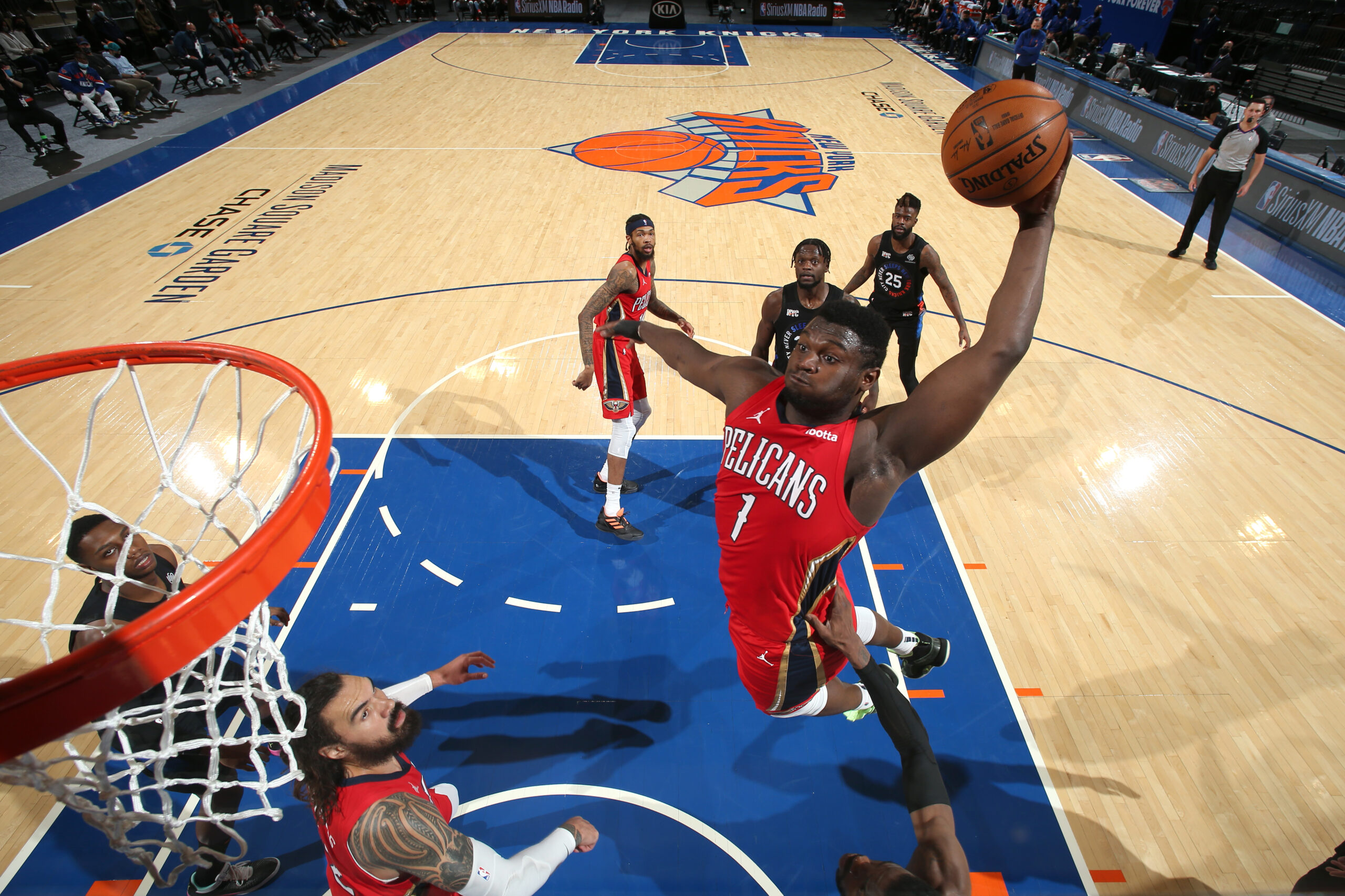 Zion, Pelicans visit MSG as Knicks eye 6th straight win