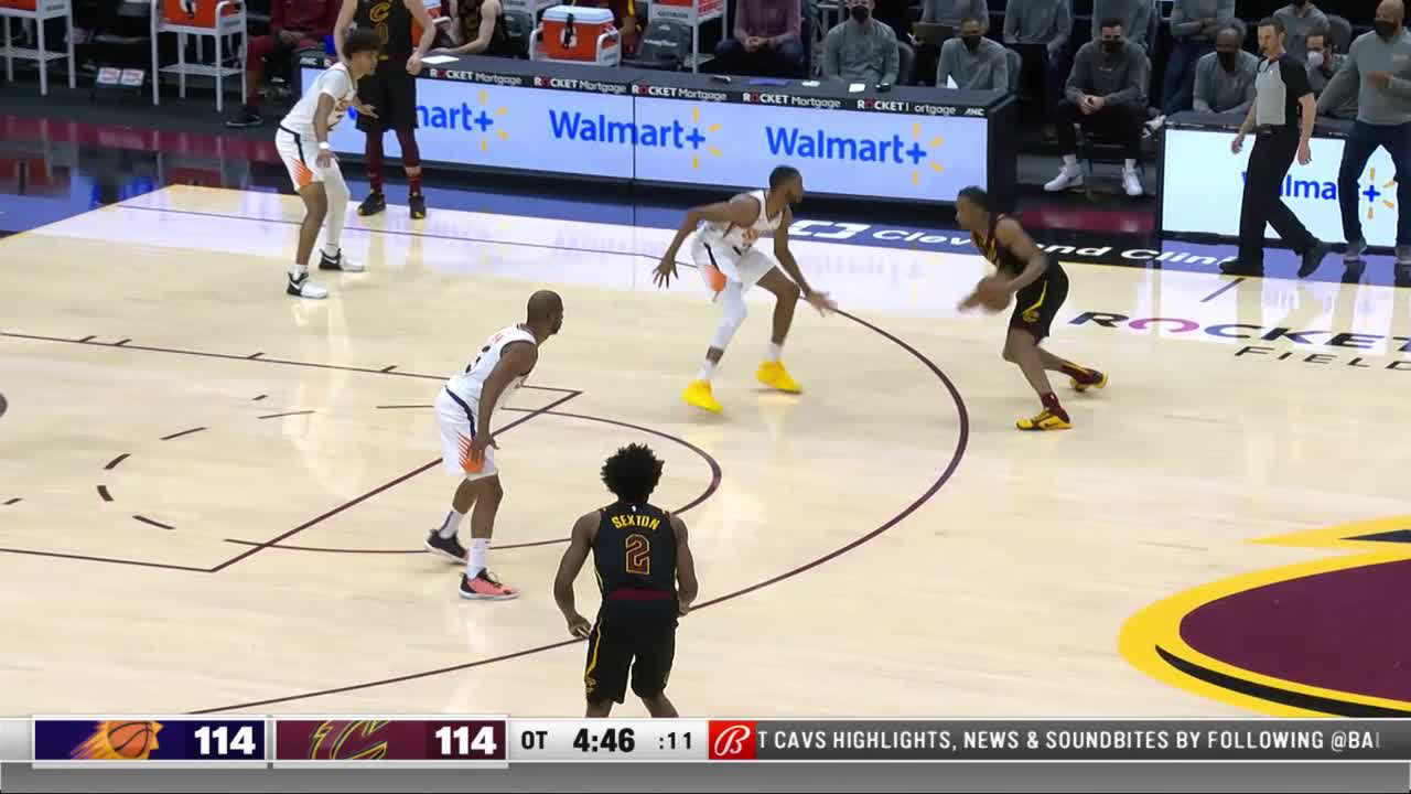 Phoenix Suns with a 12-0 Run vs. Cleveland Cavaliers
