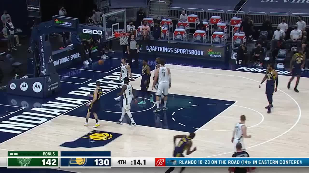 Justin Holiday with 8 3-pointers vs. Milwaukee Bucks