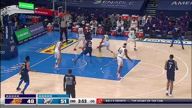 Booker threads the pass to Craig