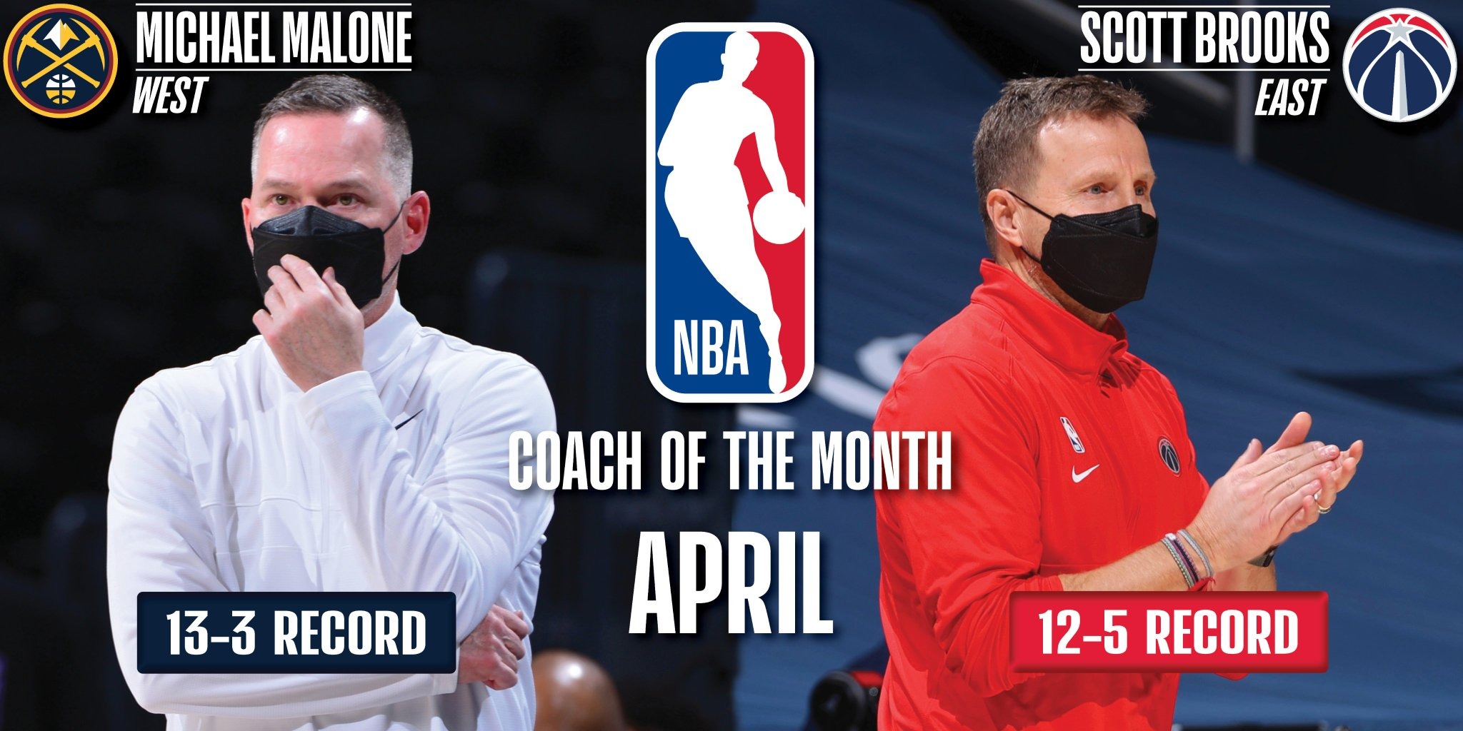 Mike Malone, Scott Brooks named NBA Coaches of the Month