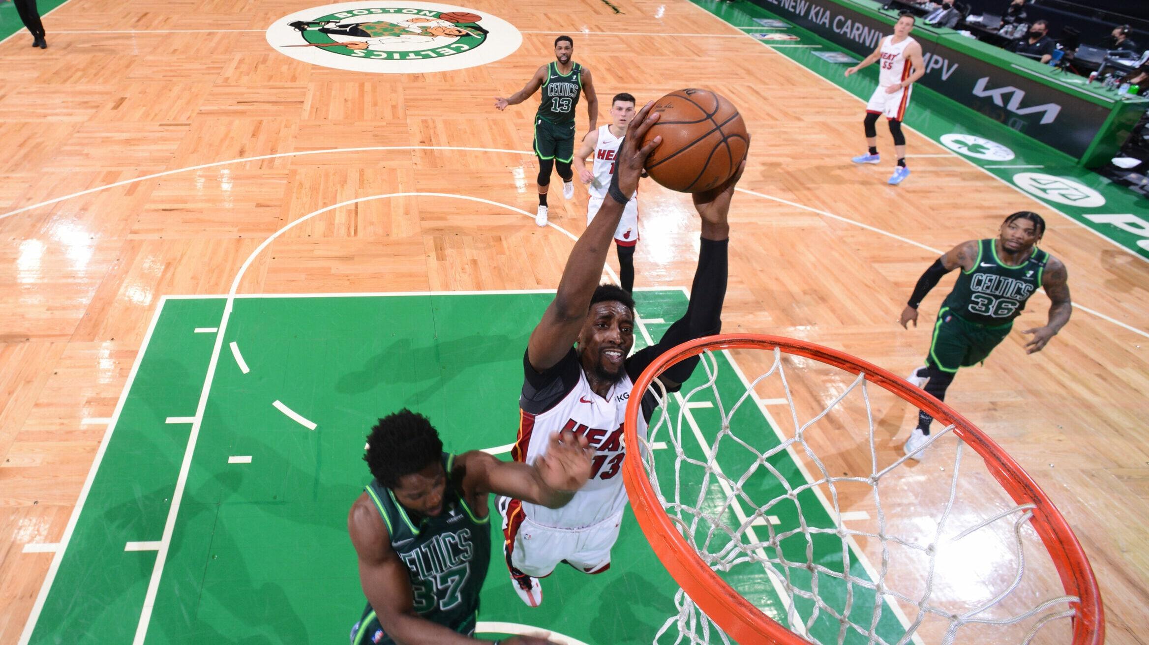 Heat clinch playoff spot, deal blow to reeling Celtics